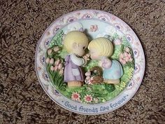 "Precious Moments ""Good Friends Are Forever"" 3D Plate-Sam Butcher for Enesco"