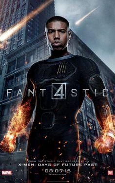 """Nuevos carteles de personajes de """"Los 4 Fantásticos"""". Antocha Humana"""