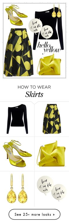 """Get Happy:  Pops of Yellow"" by shamrockclover on Polyvore featuring Vionnet, A.L.C., N°21, Kate Spade, Jimmy Choo, Kiki mcdonough, PopsOfYellow and NYFWYellow"
