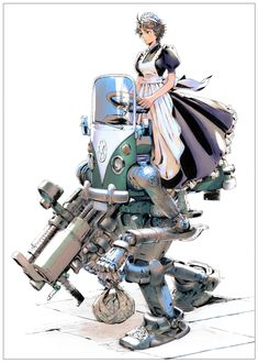 akimanart:  メイドさんのお使い メイド長から受けた指令は時に過酷でそれなりの武装をしなければいけないときもあるわけです。去年の冬コミのピンナップとして制作しました。 「メイドさんのお使い」/「あきまん」のイラスト [pixiv]  #anime #girl #illustration