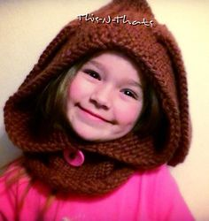 Gauge is not important yellow KK loom and blue KK loom was used. Loom knit little bunny hooded cowl child size free pattern