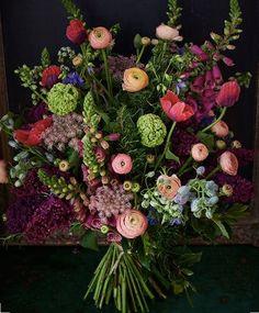 Whimsical Garden Colorful Bridal Bride Bouquet Wedding Floral Arrangement by – Scarlet & Violet Beautiful Bouquet Of Flowers, Fresh Flowers, Beautiful Flowers, Wedding Flowers, Wedding Bouquets, Wild Flower Bouquets, Autumn Flowers, Bouquet Flowers, Wedding Blue