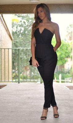 80fef0c7192 17 Best Black Strapless Jumpsuit images