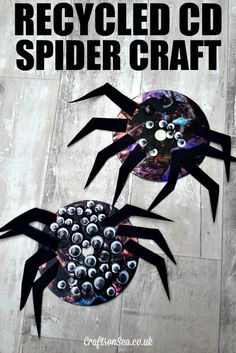 Recycled CD Spider Craft for Kids - Crafts on Sea