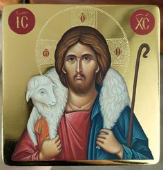 Jesus Is Lord, Jesus Christ, Church Icon, Madonna Art, Byzantine Icons, The Good Shepherd, Holy Mary, Orthodox Icons, Christian Art