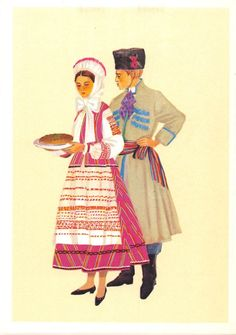 Poland Trachten Costume Polskie Stroje Ludowe Stroj Warminski | eBay Poland Costume, Ethnic Outfits, Ethnic Clothes, Folk Costume, Costumes, Polish Folk Art, Great Paintings, Fashion Sketches, Folklore