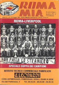 My two favorite clubs, AS Roma and Liverpool, faced off in European Cup Final. The Italian match program. Liverpool Football Club, Liverpool Fc, Liverpool European Cups, Uefa Super Cup, Football Memorabilia, You'll Never Walk Alone, Chelsea Football, As Roma, Football Program