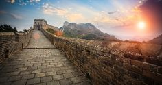 The Great Wall with sunset glow | China
