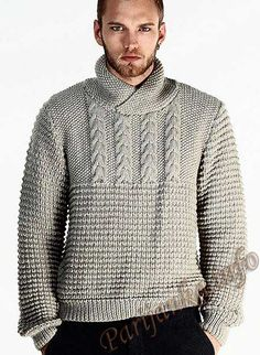 Пуловер (м) 11*113 Phildar №4326