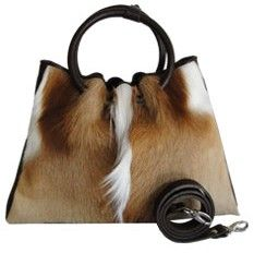 Pearl Springbok Handbag  Pearl, Springbok Handbag from South Africa  From Oliver's Farm  www.oliversfarm.com