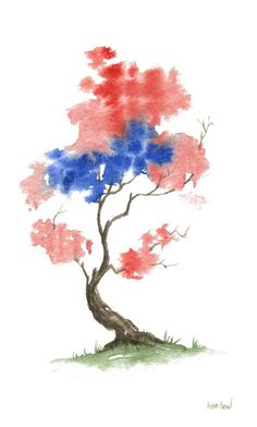 Little Zen Tree 291 - by Sean Seal - print 22.00 - Greeting cards 4.95.