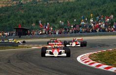 Ayrton Senna (McLaren Honda) davanti a  Gerhard Berger (McLaren Honda) e Alain Prost (Ferrari) | Stagione 1990