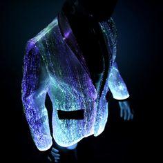Light up burning man clothing led fiber optic by YourMindYourWorld