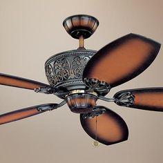 Casa Troubadour™ Dark Walnut Ceiling Fan