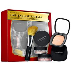 bareMinerals® COMPLEXION SUPERSTARS - A six-piece set of glistening beauty essentials for a flawless, radiant complexion. #Sephora #makeup #valueset