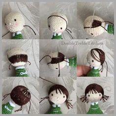 Hair Tutorial Amigurumi crochet