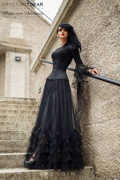 Gothic Model: Sygin Photo: Krystian Tokar Fotograf Make up: Make Up Artist Małgorzata Nahalewicz skirt Restyle , blouse Dark in love necklace Alchemy Gothic Welcome to Gothic and Amazing | www.gothicandamazing.org