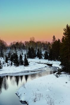 Winter sunset by Lee Bodson (Ontario, Canada) Winter Sunset, Amazing Art, Ontario, Landscape Photography, Canada, Explore, Mountains, Nature, Travel