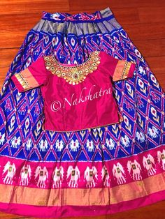 Nakshatra Design Studio By Sushmita. Kids Dress Wear, Kids Gown, Dresses Kids Girl, Kids Outfits, Kids Wear, Children Wear, Baby Dresses, Kids Lehanga Design, Kids Frocks Design