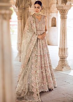 Pakistani Bridal Gown Dress for Wedding in Lilac Color in Traditional style decorr with pretty work. Buy Pakistani Bridal Gown Dress Online in USA. Asian Bridal Dresses, Asian Wedding Dress, Pakistani Wedding Outfits, Indian Bridal Outfits, Bridal Lehenga Choli, Pakistani Bridal Dresses, Pakistani Wedding Dresses, Bridal Gowns, Red Wedding