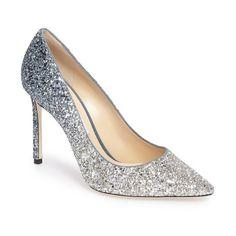 Women's Jimmy Choo Romy Glitter Pump (18 150 UAH) ❤ liked on Polyvore featuring shoes, pumps, jimmy choo pumps, glitter shoes, glitter pumps, jimmy choo shoes and jimmy choo
