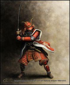 Diseño de samurai que entra en la categoria de ilustración.