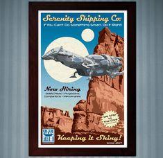 Serenity Shipping Co. Firefly  Advertisement Poster  by KnerdKraft