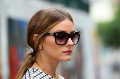 Olivia Palermo #sunglasses #checkedtop