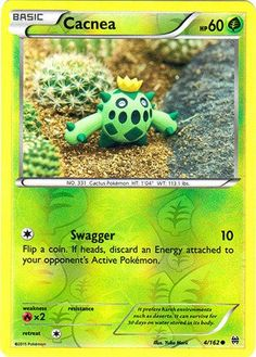 Pokemon - Cacnea - XY BREAKthrough A single individual card from the Pokemon trading and collectible card game (TCG/CCG). This is of Common rarity.