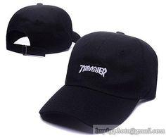 A1501 Thrasher Caps Strapback Hats Golf Caps Black da28e04c3743