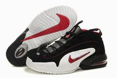 super popular cb7fb 7268b Buy Nike Air Penny,Nike Air Penny 1 Black Red White Basketball Shoes For  Sale