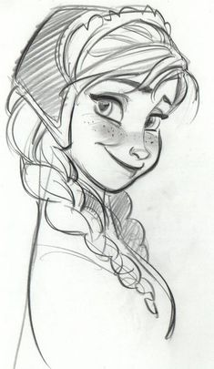 Frozen-- I think if I draw this for Jade, she'll love it, it could be a good way to teach her to draw from looking at other drawings.