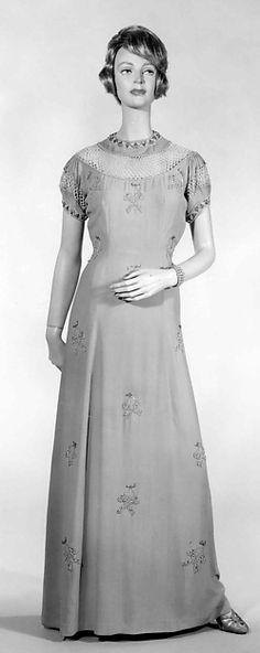 Evening dress Elsa Schiparelli, French, 1939