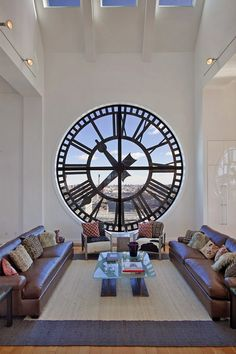 Might be cool to frame a see-thru clock and put an oversized print behind it...