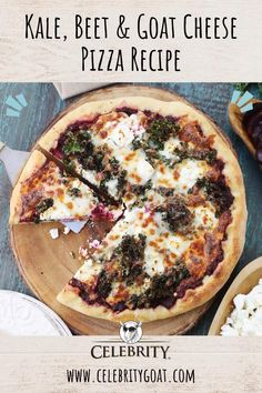Fig Pizza, Goat Cheese Pizza, Beet And Goat Cheese, Kale Pizza, Vegetarian Pizza, Vegetarian Recipes, Cooking Recipes, Gourmet Pizza Recipes, Flatbread Pizza Recipes