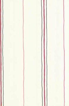 Black and Pink Skinny Stripes on White Wallpaper KL2971
