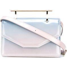 M2malletier Indre shoulder bag (39.470 RUB) ❤ liked on Polyvore featuring bags, handbags, shoulder bags, bolsas, purses, blue, purse shoulder bag, hand bags, shoulder bag handbag and blue hand bag