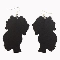 Afro Puff Earrings (6 colors) ***** You will love our African American inspired accessories that you can wear with your Natural Hair Afro, Twist-Out, Braids, TWA or African Wrap.  Our collection of Ethnic Jewelry & Natural Hair Earrings will help you to show off your african heritage and pride.  Show the world you are a queen through your fashion.