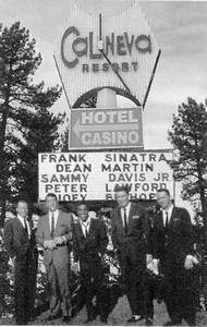 The Rat Pack was among the Hollywood elite who frequented the Cal Neva a half century ago. undated web photo - MReno