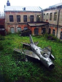 Abandoned fighter jet taking a long nap. Location unknown. Photo via Imgur.com