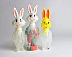 vintage Easter candy containers