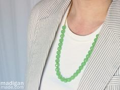 Super easy beaded necklace tutorial | Madigan Made