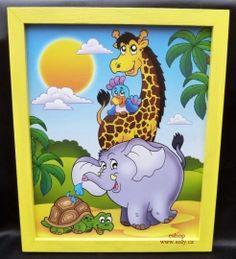 detské motivy na stenu malovane zirafa slon zelva. 249,-  Kč eshop www.soly.cz