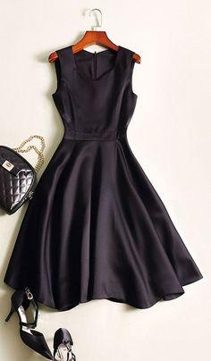 Sweat Black Sleeveless Sweetheart Neck Dress, Size: 0/2/4/6/8