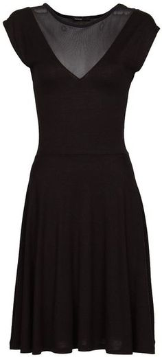Black Simple Dress #Sexy #LittleBlackDress stun dress, panel dress, little black dresses, stunning dresses