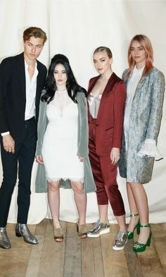 Lucky Blue Smith and his rockstar sisters Daisy Clementine Smith, Pyper America Smith and Starlie Cheyenne Smith posed for a high fashion photo op during the H&M Studio photo session. Photo: Getty Images