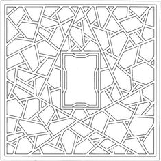 Geometric Shapes Coloring Page    I think I'll cut out the middle and use this as a border for a picture frame.