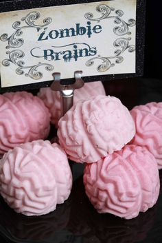 Awesome pink chocolate zombie brains