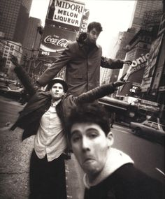 "The Beastie Boys (David LaChapelle, 1986)  New York City:  After the release of the Beasties' debut, Licensed to Ill, the rambunctious trio met LaChapelle in Midtown for this portrait.  He had Adam ""Ad-Rock"" Horovitz, Adam ""MCA"" Yauch and Michael ""Mike D"" Diamond approach the camera and make the goofy faces that would become the group's trademark."
