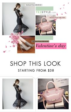 """""""Valentines' day with YesStyle"""" by gabyidc ❤ liked on Polyvore featuring moda, Clair Fashion, Anran, women's clothing, women, female, woman, misses e juniors"""